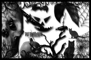 Halloween Brush Set by *anodyne-stock