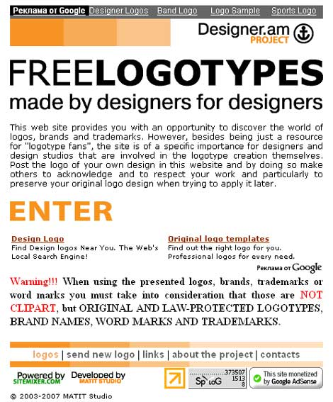 Free Logotypes from Designer.am