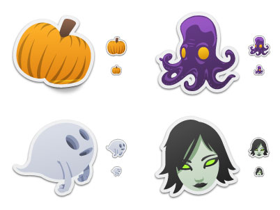 Spooky Stickers Free Icons