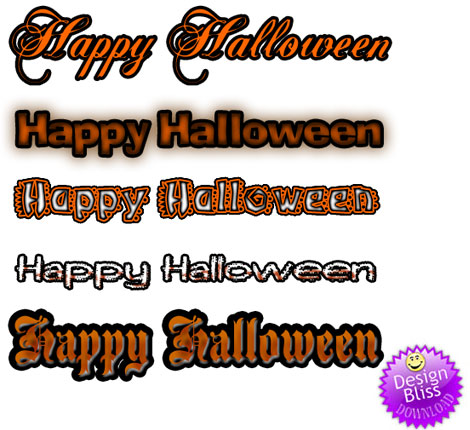 Free Halloween Layer Styles for Photoshop