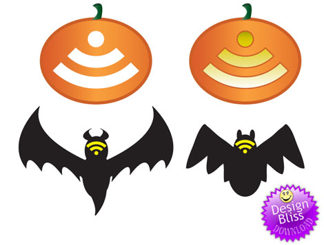 Free Vector Halloween RSS Icons