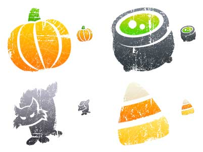 Litho Halloween Icons from Iconfactory