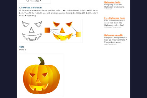 Halloween Pumpkin Vector and Tutorial from N.Design Studio