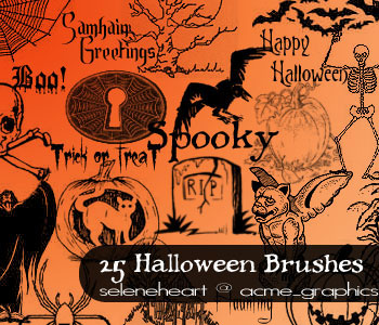 Seleneheart halloween brushes