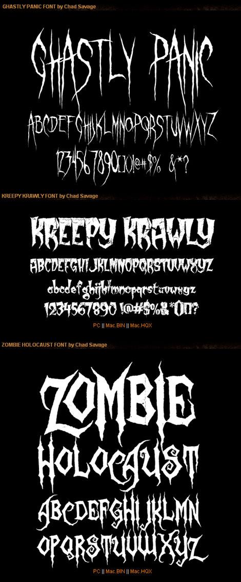 Sinister Fonts