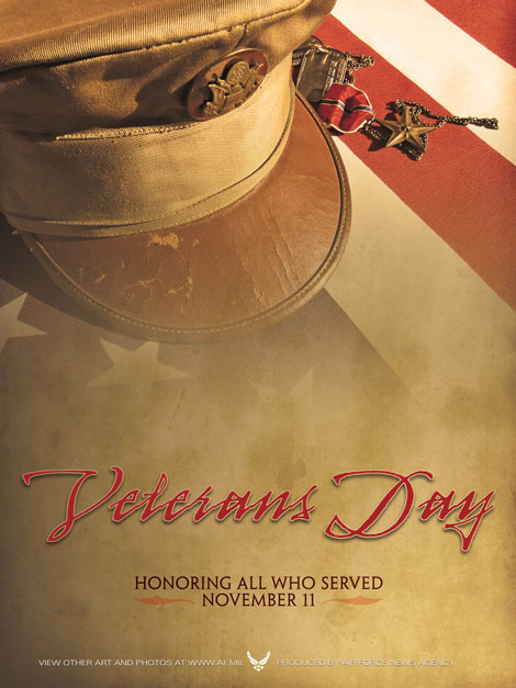 Veterans Day Poster from the Air Force