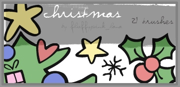 Christmas Brushes Cartoon Style