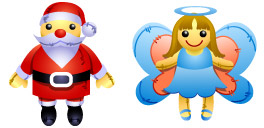 Zeus Box Christmas Dolls Icons
