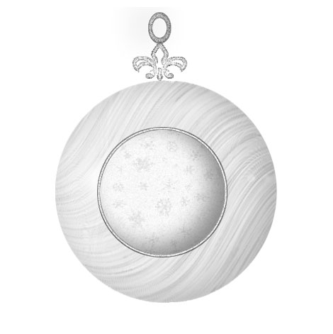 Glimmering White Christmas Ornament Ball PSD