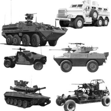 Military Vehicles Photoshop Brushes