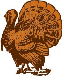 SVG Turkey Open Clip Art