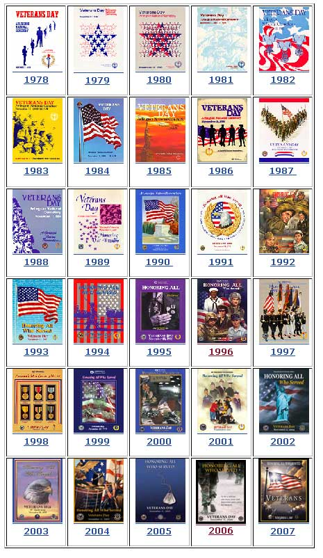 Past Veterans Day Poster Designs