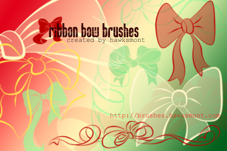Christmas Ribbon Bow Brushes