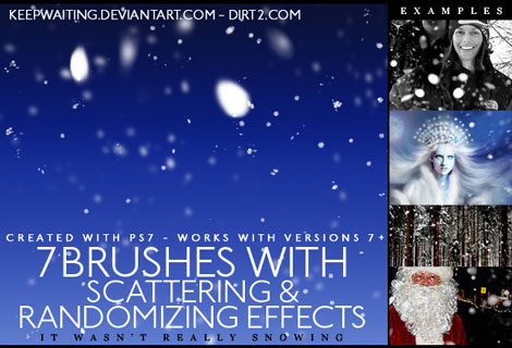 Scattering Snow Brushes