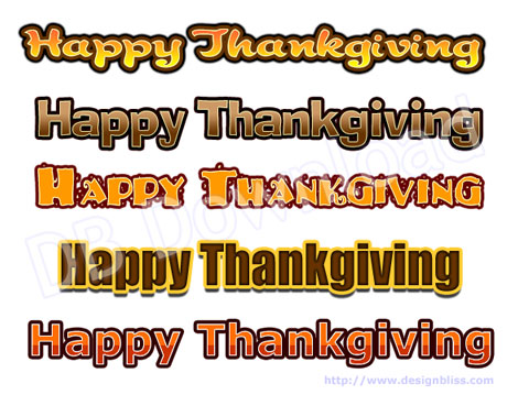 Thanksgiving Layer Styles for Photoshop - A Design Bliss Download