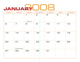 2008 Calendar Templates Monthly Set