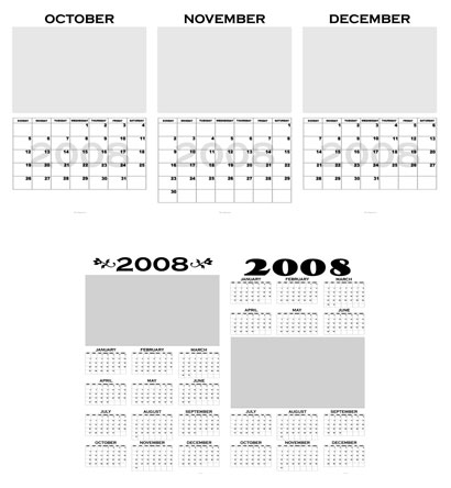 Photoshop Calendar Templates