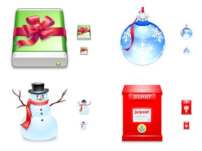 World of Aqua Christmas Icons