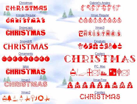 Christmas Spot Fonts