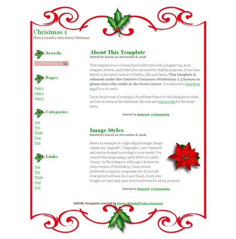 Christmas 1 Template Open Designs