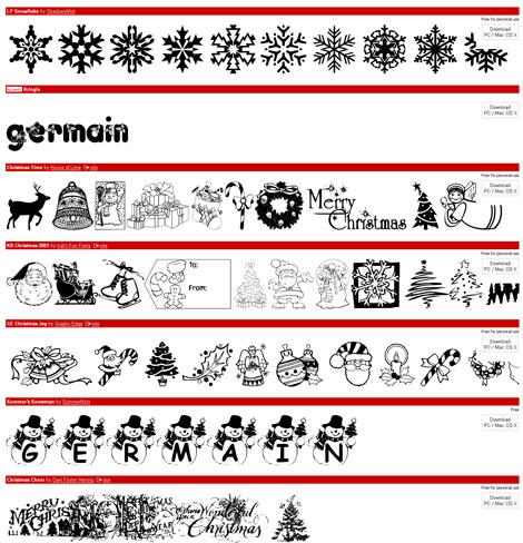 Dafont Christmas Fonts