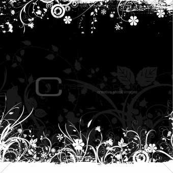 Grunge Floral Vector EPS