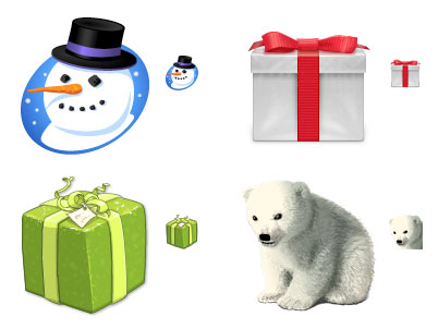 Happy Holidays 2005 Icons
