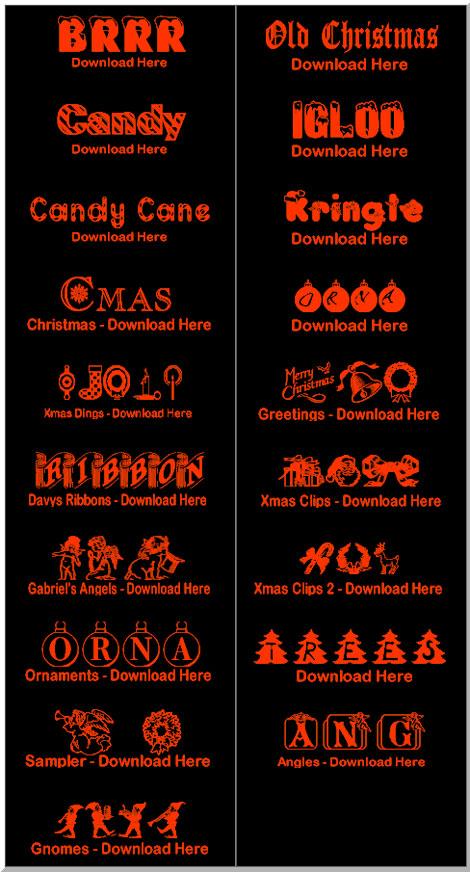 Home 4 Christmas Fonts