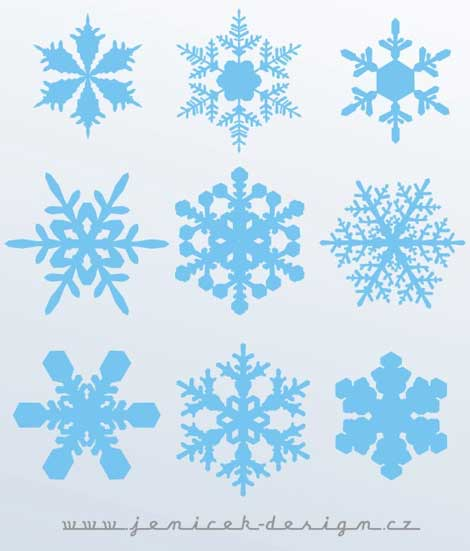 Another Set of Vector Snowflakes