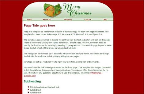 Mango Merry Christmas Template