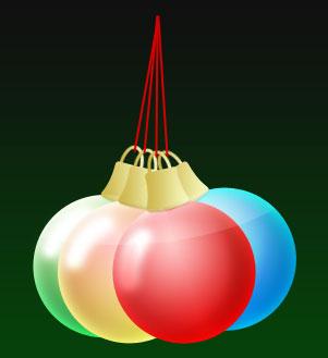 Christmas Ornaments PSD
