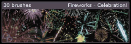 Fireworks Celebration Photoshop Brushes