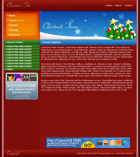 Photoshop Christmas Theme