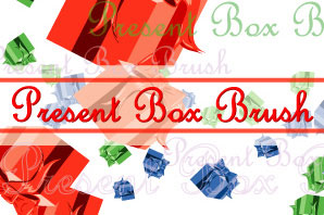 Present Box Illustrator Brushes