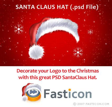 Santa Claus hat PSD