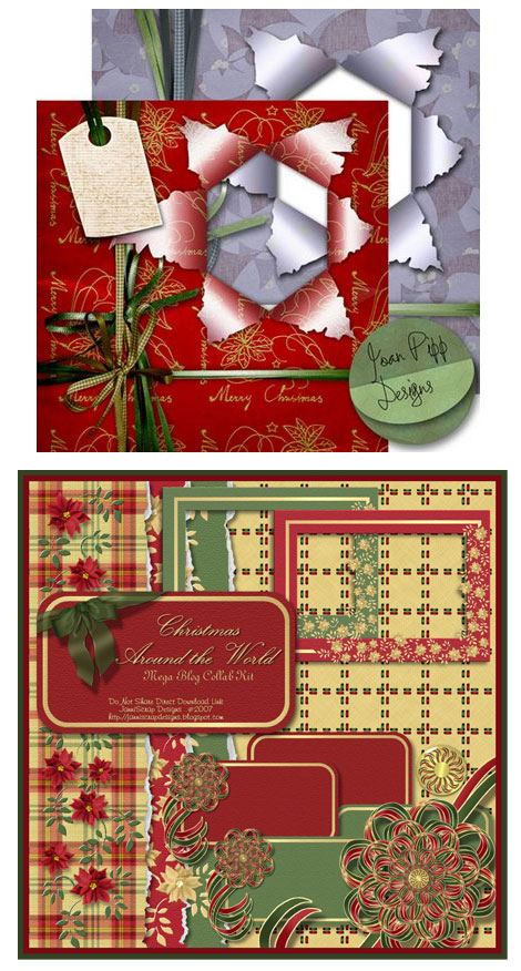 Christmas Digital Scrapbook Samples