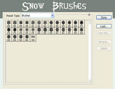 Snow Photoshop Brushes Set 1