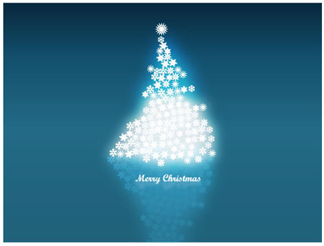 Vector Snowflakes Christmas Tree