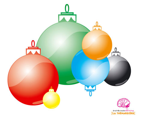 Multi-Color Christmas Ornaments Vector
