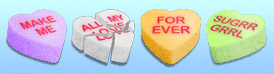 heart candy icons