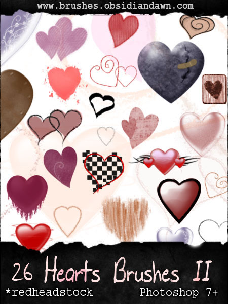 heart shaped photoshop brushes