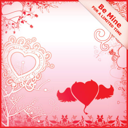 Designfruit valentine heart brushes