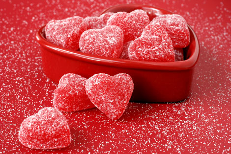 heart-shaped candy