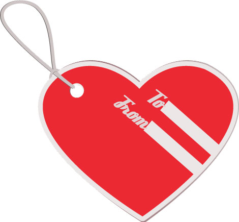 heart luggage tag vector