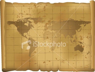 Map Scroll Vector EPS