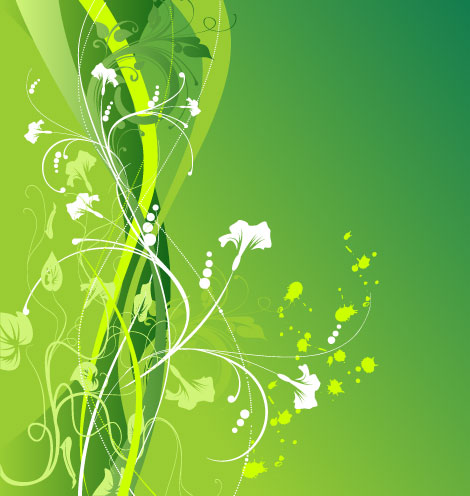 Green Floral Vector