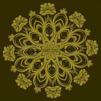 vector ornamental flower