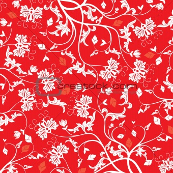 red floral vector
