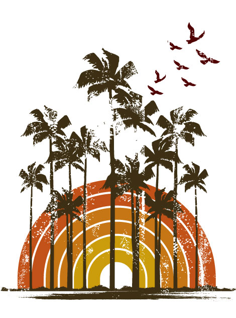 Grunge Tropical Vector