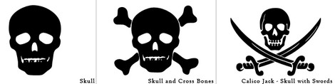 Skull and Crossbones Photoshop Shapes